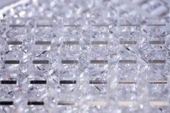 Fond de pointe abstrait Détails de plastique ou de verre transparent Coupe de laser de plexiglass images libres de droits