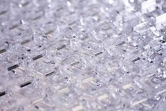 Fond de pointe abstrait D?tails de plastique ou de verre transparent Coupe de laser de plexiglass photographie stock libre de droits