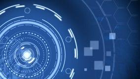 Fond de pointe bleu futuriste de technologie banque de vidéos