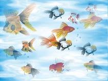 Fond de poissons Photo libre de droits