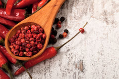 Fond de poivrons de piment Photographie stock libre de droits
