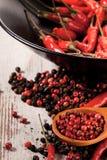 Fond de poivrons de piment Photographie stock