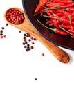 Fond de poivrons de piment Photo stock
