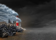 Fond de pollution Image stock