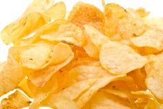 Fond de pommes chips de plan rapproché Photo stock