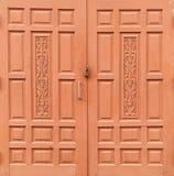 Fond de porte en bois Photo libre de droits