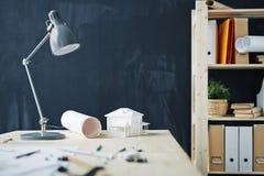 Fond de poste de travail d'architectes Photographie stock