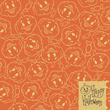 Fond de potirons de Halloween illustration stock