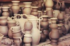 Fond de pots d'argile photos stock
