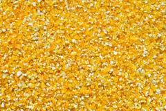 Fond de poussières abrasives de maïs Photographie stock