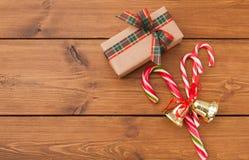 Fond de préparation de Noël, vue supérieure Photos libres de droits