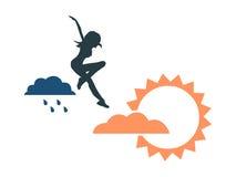 Fond de prévisions météorologiques illustration de vecteur
