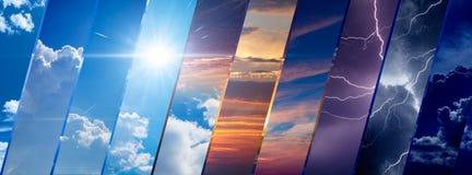Fond de prévisions météorologiques, concept de changement climatique image stock