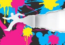 Fond de promotion de tirage en couleurs illustration de vecteur