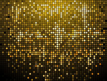 Fond de pétillement de mosaïque d'or Photographie stock