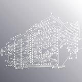 Fond de puce, circuit électronique, EPS10 Photos stock