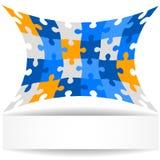 Fond de puzzle avec la bannière. Images libres de droits