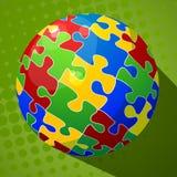 Fond de puzzle de sphère Photos libres de droits