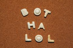 Fond de qualité de studio de biscuits d'alphabet Image stock