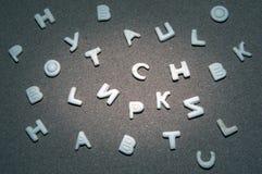 Fond de qualité de studio de biscuits d'alphabet Image libre de droits