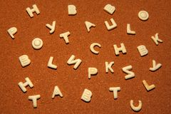 Fond de qualité de studio de biscuits d'alphabet Photos libres de droits