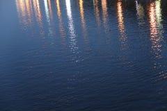Fond de réflexion de la lumière de ville Images stock