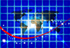 Fond de réseau de carte du monde Photos stock