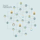 Fond de réseau social Photos stock