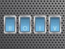 Fond 2015 de résumé avec des boutons Image libre de droits