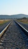 Fond de rail de train en journée Photos stock