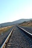 Fond de rail de train en journée Photo stock