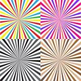 Fond de rayon de couleur Photos libres de droits