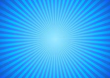 Fond de rayon de Sun dans la couleur bleue illustration libre de droits