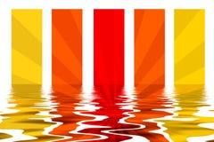 Fond de rayures avec la réflexion de l'eau Images stock