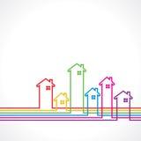 Fond de Real Estate à vendre le concept de propriété illustration de vecteur