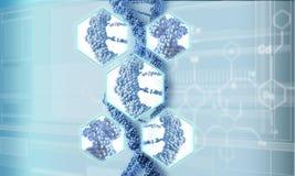 Fond de recherches d'ADN illustration libre de droits