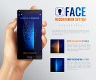 Fond de reconnaissance d'identification de visage illustration stock