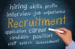 Fond de recrutement Image libre de droits