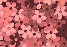 Fond de Redflowers illustration de vecteur