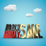 Fond de rendu de la vente 3d de Black Friday Image stock