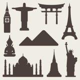 Fond de renommée mondiale de monuments illustration de vecteur