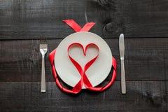 Fond de repas de coeur Photos libres de droits