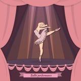 Fond de représentation de ballet illustration libre de droits