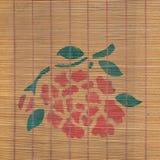 Fond de rideau en bambou Images stock