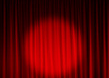 Fond de rideau en théâtre Photographie stock