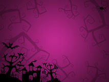 Fond de rose de Halloween illustration de vecteur