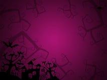Fond de rose de Halloween pour des cartes postales Images libres de droits