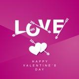 Fond de rose de logotype de flèches d'amour Photos libres de droits