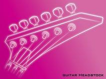 Fond de rose de poupée de guitare Photographie stock libre de droits