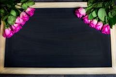 Fond de roses de jour de femme Photo stock